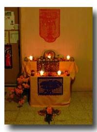 死者の日の祭壇:オアハカの宿