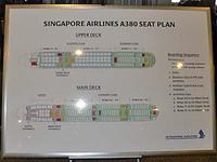 シンガポール航空A380の構造図