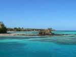 ナズラ島のナブアロッジ周辺の海の様子