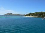 ナヌヤライライ島サンライズラグーン周辺の海の様子