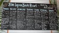 ブルーラグーンビーチリゾートのアクティビティボード