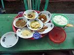 テテバトゥの割礼のお祝いでいただいた食事