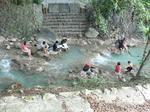 台北の北投温泉の足湯