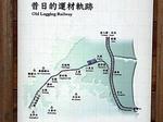 台湾 羅東森林鉄道の昔の路線のイメージ図