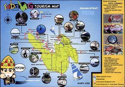 ウェー島全体マップ(土産物屋作成)