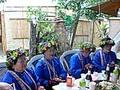 プユマ族式結婚式 3:会場を移動して宴会に突入。