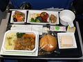 久しぶりのANA国際線でアモイ。機内食も◎です。