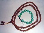 菩提樹の数珠と骨董品のターコイズブレス