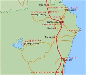 タイ ペッチャブリー県 観光名所 イラストマップ