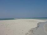 潮が満ちて島が消え始めたスネークアイランド