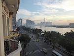 マジェスティックホテルのバルコニーからの眺め