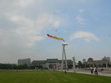 長春の文化広場の凧揚げ
