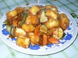 紅焼日式豆腐 卵豆腐と野菜のしょうゆあん