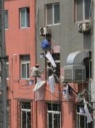 大連の壁塗り職人2