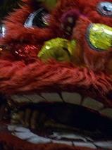 インドネシア コタ地区にきた獅子舞