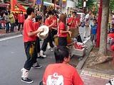 横浜中華街 国慶節の獅子舞 2011 囃子方