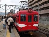 銚子電鉄に乗車する人々