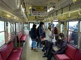 銚子電鉄の車内