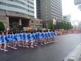 鹿児島祇園祭 メイン通りで開会式中
