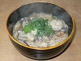 台湾 手工麺線 を牡蠣麺線にしたところ