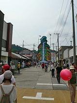 那須烏山市 山あげ祭 野外歌舞伎 舞台 山をあげているところ