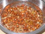 ひよこ豆を水で戻す 1時間後