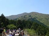 神奈川 大山 見晴台からの山頂の写真