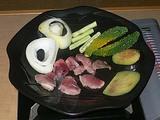 キョンの肉の焼き肉 陶板焼き