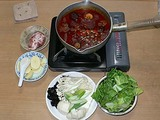 中国土産 火鍋の素で鍋