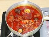 中国土産 火鍋の素で鍋アップ