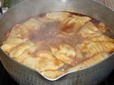 中国土産 火鍋の素で鍋 〆の餃子