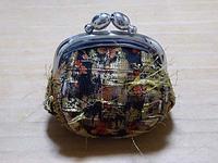 京都 西陣織り がま口コインケース