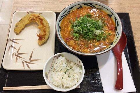 丸亀製麺でトマたまカレーうどん食べた。TOKIOも正念場ですなぁ。