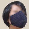 久留米織のマスクをつけてみた