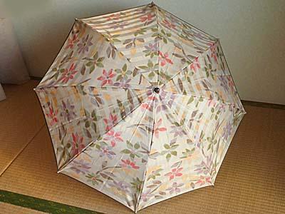 甲州織 折りたたみ傘 小宮商店 ひらいたところ
