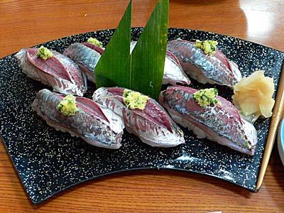 小田原 だるま料理店 の アジ寿司