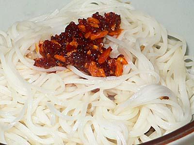 麻油麺線 台湾素麺のごま油和え 風 麺線