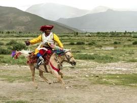 ラサの名所巡り:馬に乗ったり、バルコル行ったり。(1999.08.18 ラサ)