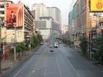 がらんとしたバンコクの町並み