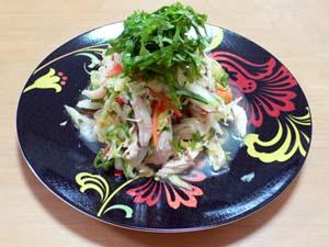 自家製大葉で作ったゴイガー(ベトナム風鶏肉サラダ)