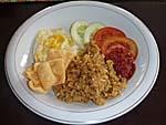 サバンゲストハウスの朝食