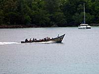 ダイバーのボート