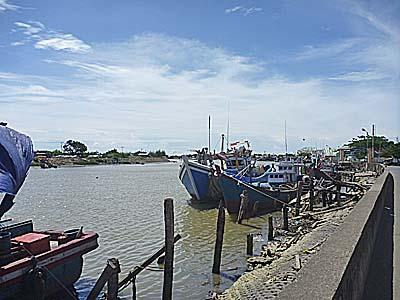 バンダアチェの河口付近