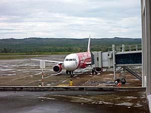 エアアジア バンダアチェ空港でのショット