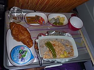 タイ航空 バンコク-成田機内食 和食 おかゆ