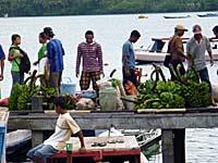 アイ島から農作物を積んでバンダネイラにやってくる