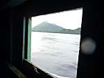船の小窓から覗いたグヌンアピ