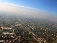 バンコク 機上からバンコクの町を望む