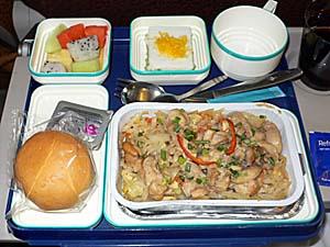 ガルーダインドネシア航空 バンコク-ジャカルタ線の機内食