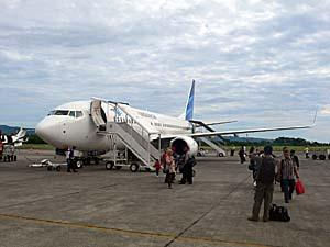 ガルーダインドネシア航空 国内線 アンボン空港にて